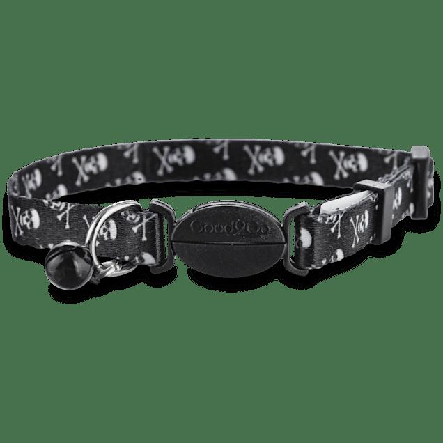 Good2Go Skull Print Black Cat Collar - Carousel image #1