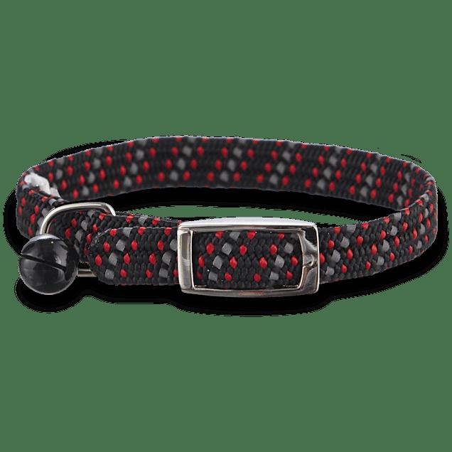 Bond & Co Black & Red Reflective Kitten Collar - Carousel image #1
