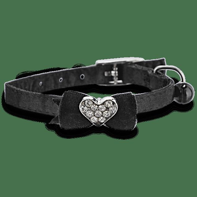 Bond & Co Black Fancy Bow Gem Kitten Collar - Carousel image #1