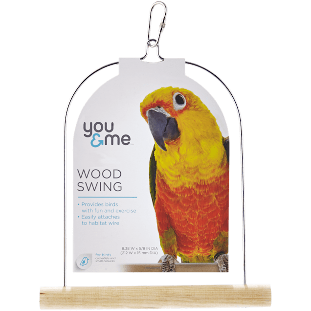 You & Me Wood Bird Swing , Medium - Carousel image #1
