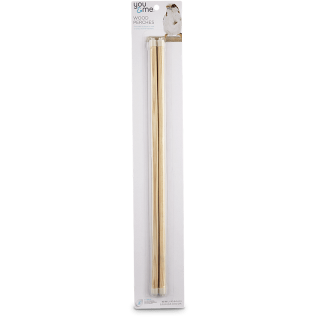 "You & Me 3/8-inch Wood Bird Perch 2 Pack Set, 16"" Length - Carousel image #1"