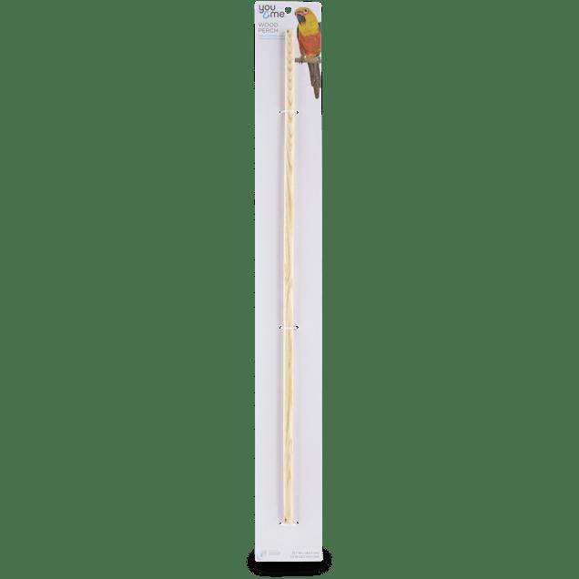 You & Me 1/2-inch Wood Bird Perch, X-Large - Carousel image #1