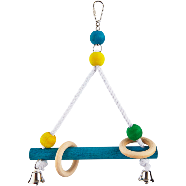 You & Me Bird Perch Swing with Bells, Medium - Carousel image #1