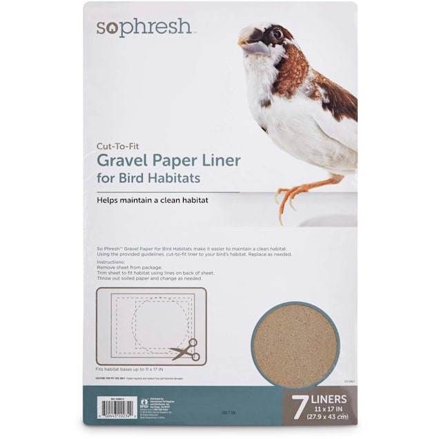 "So Phresh Gravel Paper Liner for Bird Habitats, 11"" X 17"", 7 Count - Carousel image #1"