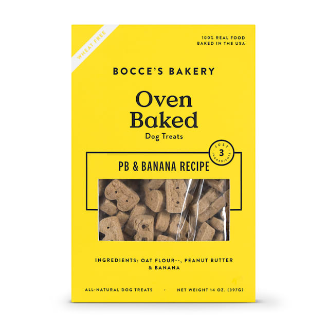 Bocce's Bakery PB & Banana Dog Biscuits - Carousel image #1