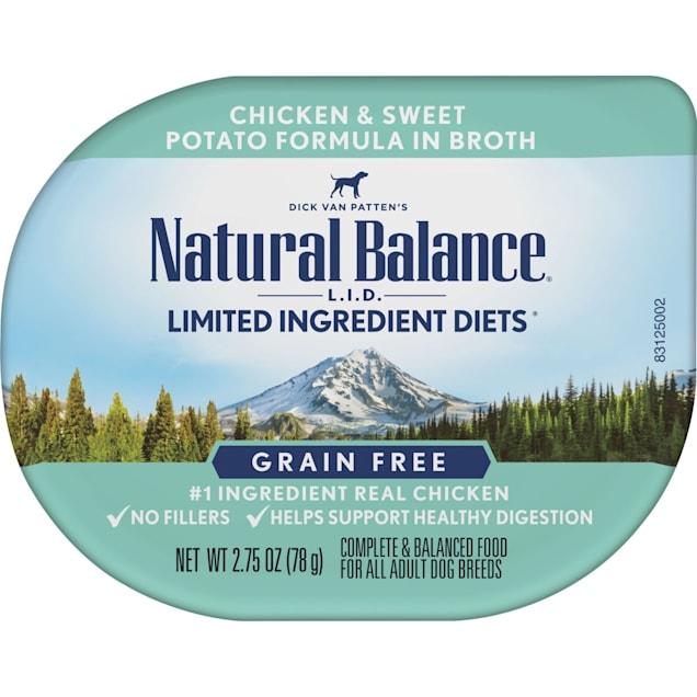 Natural Balance L.I.D. Limited Ingredient Diets Chicken & Sweet Potato Formula in Broth Adult Wet Dog Food, 2.75 oz., Case of 24 - Carousel image #1