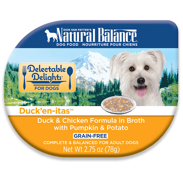 Natural Balance Delectable Delights Grain Free Duck'En-Itas Duck & Chicken Adult Dog Food, 2.75 oz., Case of 24 - Carousel image #1
