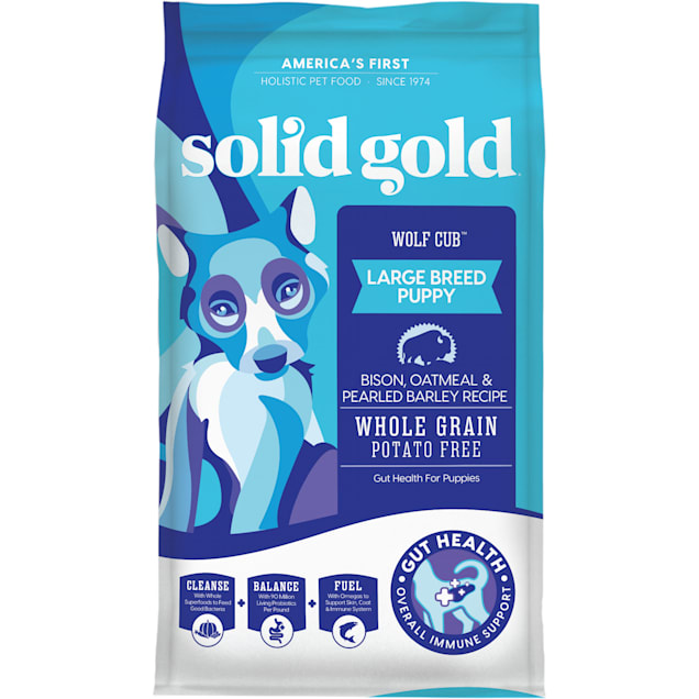 Solid Gold Wolf Cub Bison & Oatmeal Puppy Food, 24 lbs. - Carousel image #1