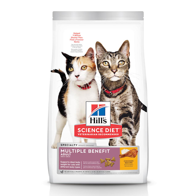 Hill's Science Diet Adult Multiple Benefit Chicken Recipe Dry Cat Food, 15.5 lbs. - Carousel image #1