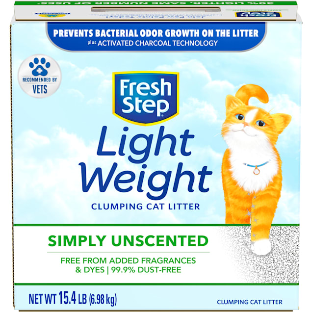 Fresh Step Simply Unscented Lightweight Clumping Cat Litter, 15.4 lbs. - Carousel image #1