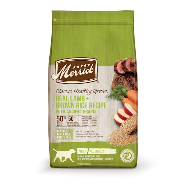Merrick Classic Healthy Grains Lamb+ Brown Rice Recipe with Ancient Grains Dry Dog Food, 25 lbs. - Carousel image #1