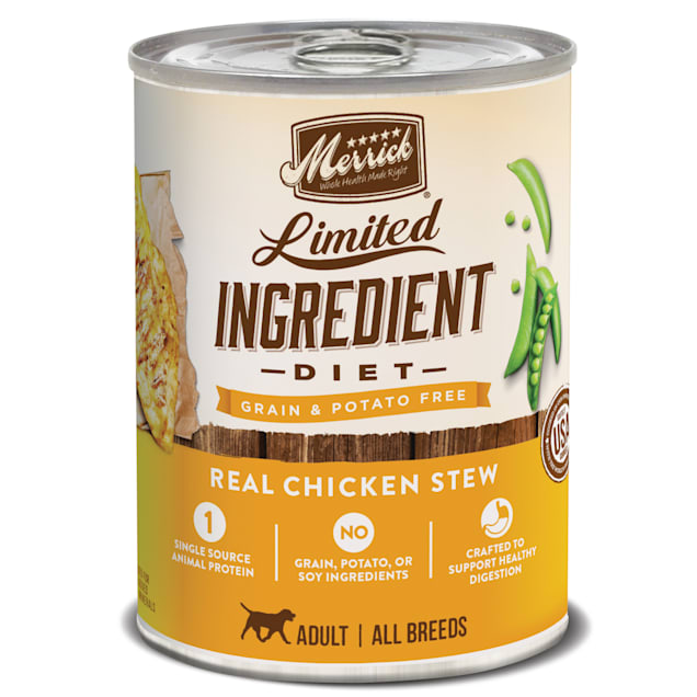 Merrick Limited Ingredient Diet Grain Free Real Chicken Canned Dog Food, 12.7 oz., Case of 12 - Carousel image #1