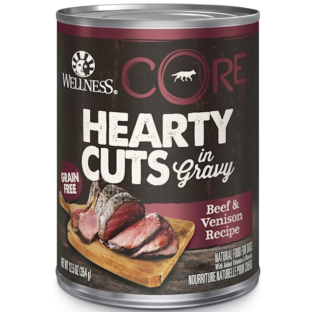 Wellness CORE Natural Grain Free Beef & Venison Hearty Cuts Dog Food, 12.5 oz., Case of 12 - Carousel image #1