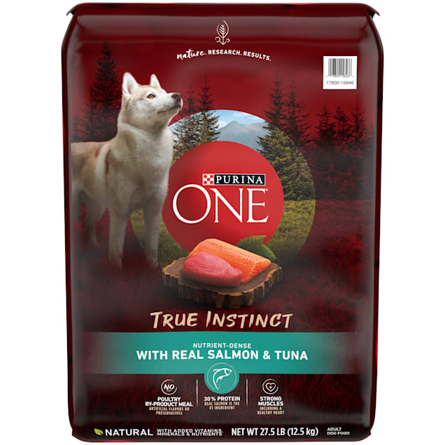 Purina ONE High Protein Natural True Instinct With Real Salmon & Tuna Dry Dog Food, 27.5 lbs. - Carousel image #1