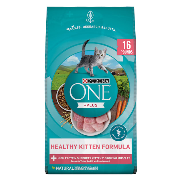 Purina ONE +Plus High Protein Natural Healthy Kitten Formula Dry Food, 16 lbs. - Carousel image #1