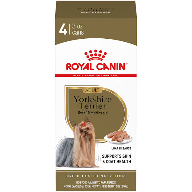 Royal Canin Breed Health Nutrition Yorkshire Terrier Loaf In Sauce Wet Dog Food Multipack, 3 oz., Case of 4 - Carousel image #1