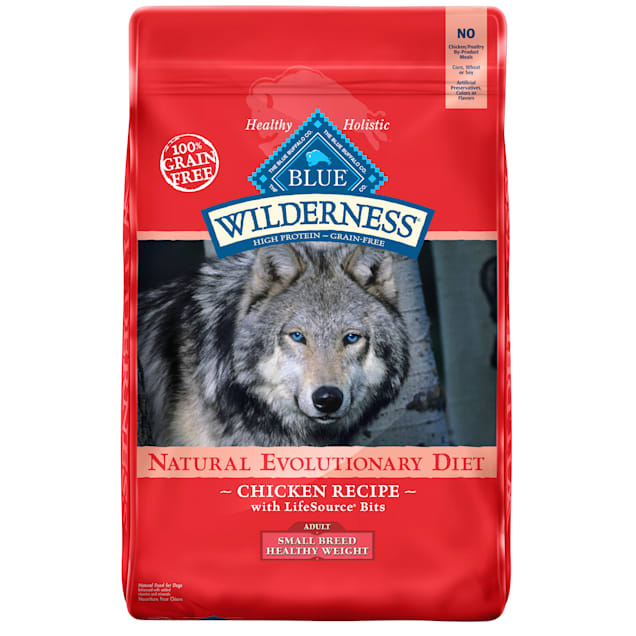 Blue Buffalo Blue Wilderness Healthy Weight Chicken Recipe Adult Small Breed Dog Food, 11 lbs. - Carousel image #1