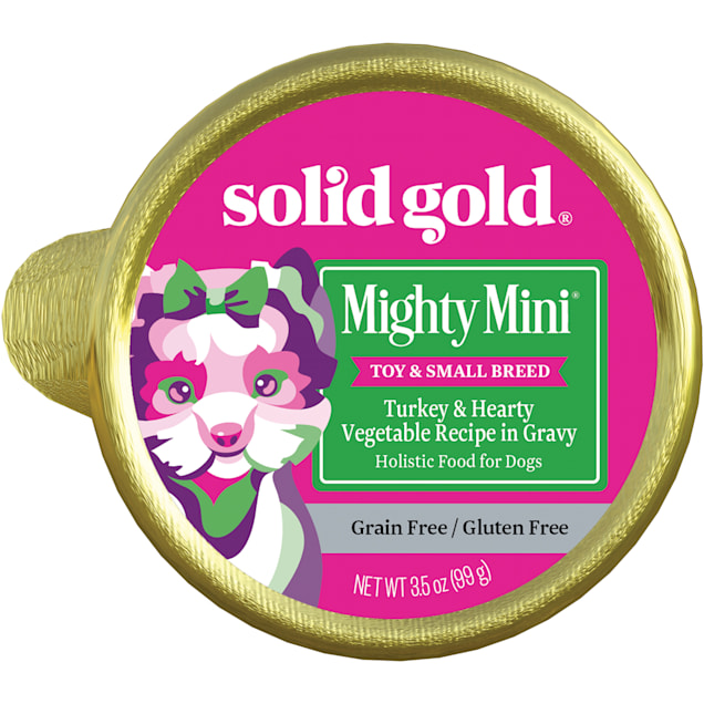 Solid Gold Mighty Mini Turkey Grain and Gluten Free Wet Dog Food, 3.5 oz., Case of 12 - Carousel image #1