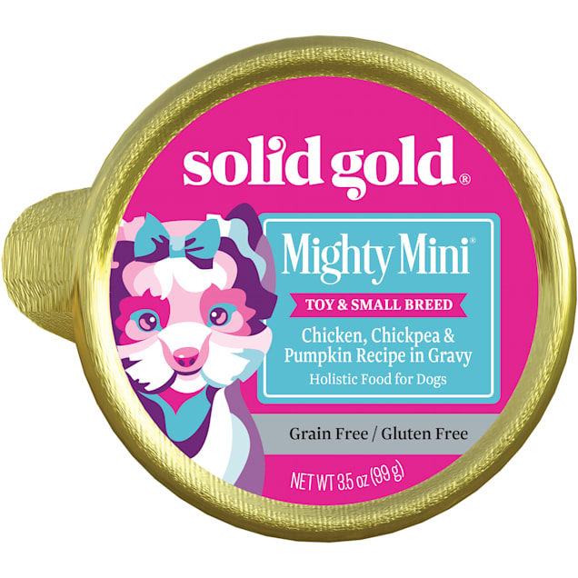 Solid Gold Mighty Mini Toy Breed Chicken Grain Free Dog Food Cup, 3.5 oz., Case of 12 - Carousel image #1