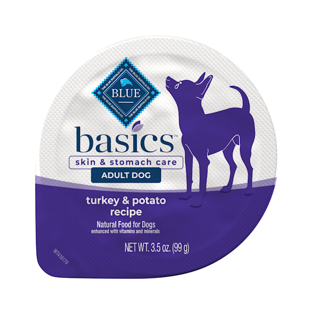 Blue Buffalo Blue Basics Grain-Free Turkey & Potato Recipe Adult Small Breed Wet Dog Food, 3 oz., Case of 12 - Carousel image #1