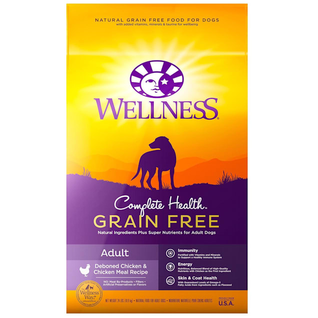 Wellness Complete Health Natural Grain Free Adult Deboned Chicken & Chicken Meal Recipe Dry Dog Food, 24 lbs. - Carousel image #1