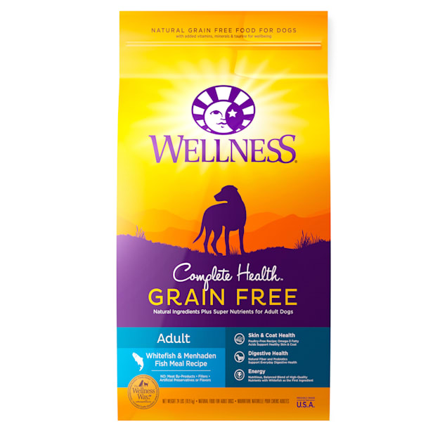 Wellness Complete Health Grain Free Adult Whitefish and Menhaden Fish Meal Recipe Dry Dog Food, 24 lbs. - Carousel image #1