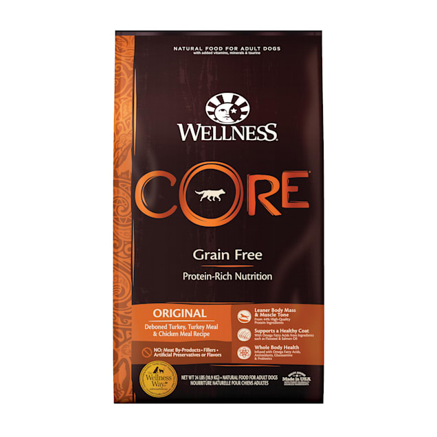 Wellness CORE Natural Grain Free Original Turkey & Chicken Dry Dog Food, 24 lbs. - Carousel image #1