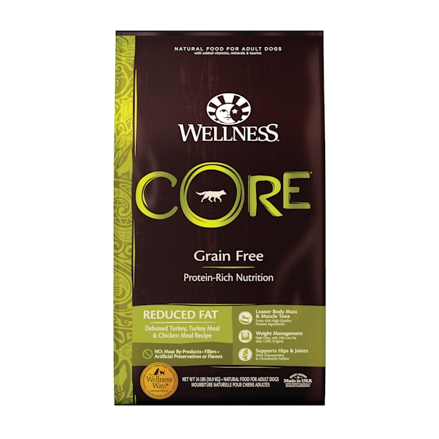 Wellness CORE Natural Grain Free Reduced Fat Dry Dog Food, 24 lbs. - Carousel image #1