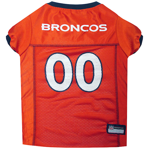 Pets First Denver Broncos NFL Mesh Pet Jersey, X-Small - Carousel image #1