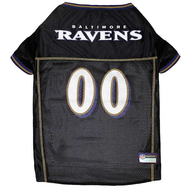Pets First Baltimore Ravens NFL Mesh Pet Jersey, X-Small - Carousel image #1
