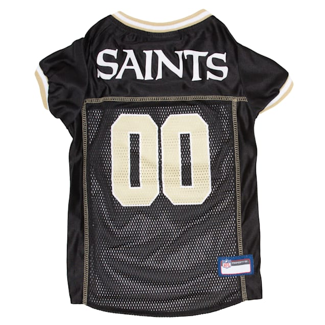Pets First New Orleans Saints NFL Mesh Pet Jersey, X-Small - Carousel image #1