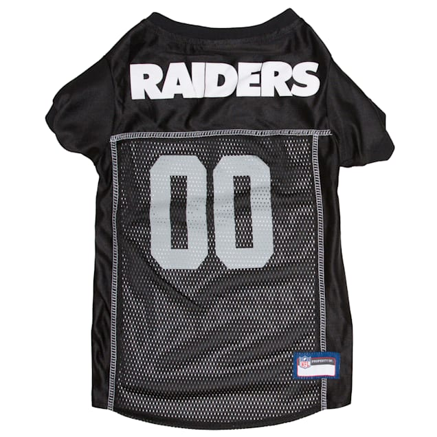 Pets First Oakland Raiders NFL Mesh Pet Jersey, X-Small - Carousel image #1