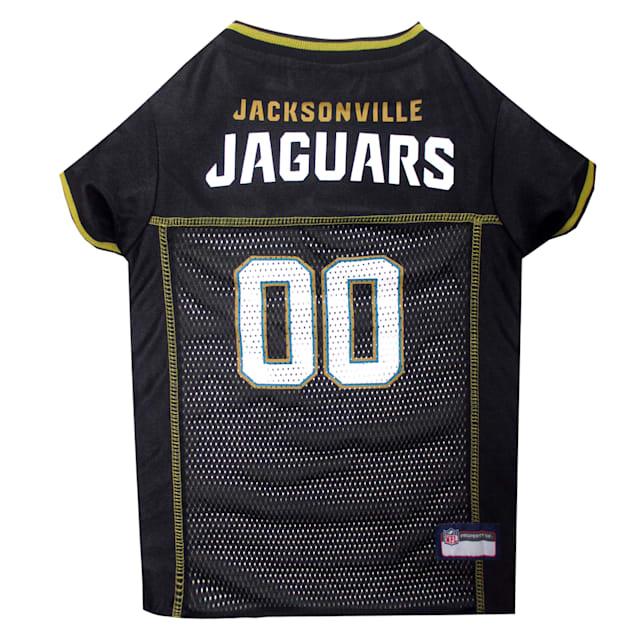Pets First Jacksonville Jaguars NFL Mesh Pet Jersey, Extra Small - Carousel image #1