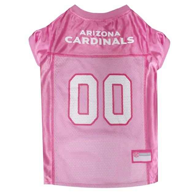 Pets First Arizona Cardinals NFL Pink Mesh Jersey, X-Small - Carousel image #1