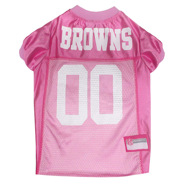 Pets First Cleveland Browns NFL Pink Mesh Jersey, X-Small - Carousel image #1
