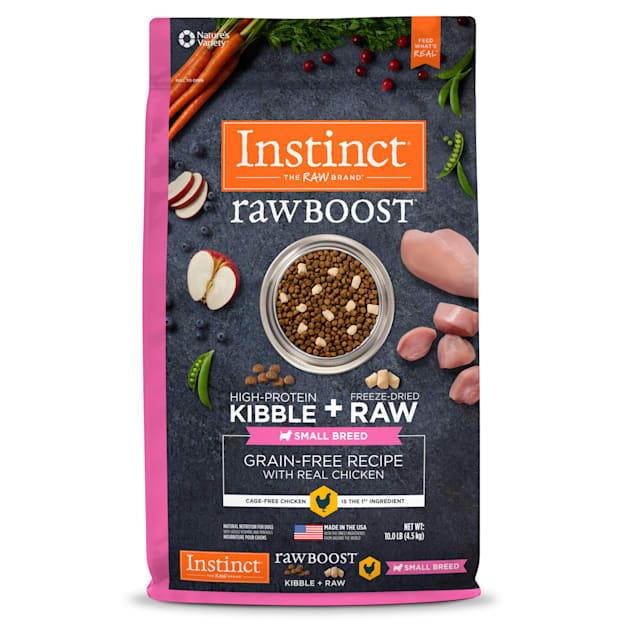 Instinct Raw Boost Small Breed Grain-Free Recipe with Real Chicken Dry Dog Food with Freeze-Dried Raw Pieces, 10 lbs. - Carousel image #1