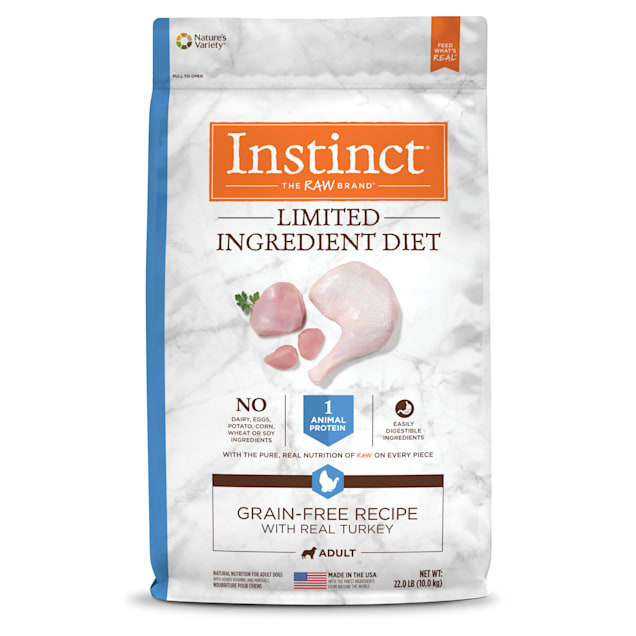 Instinct Limited Ingredient Diet Grain-Free Recipe with Real Turkey Freeze-Dried Raw Coated Dry Dog Food, 22 lbs. - Carousel image #1