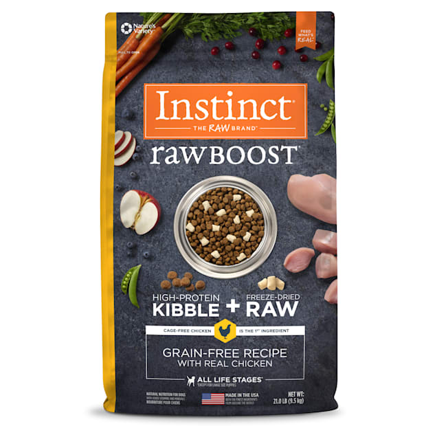 Instinct Raw Boost Grain-Free Recipe with Real Chicken Dry Dog Food with Freeze-Dried Raw Pieces, 21 lbs. - Carousel image #1