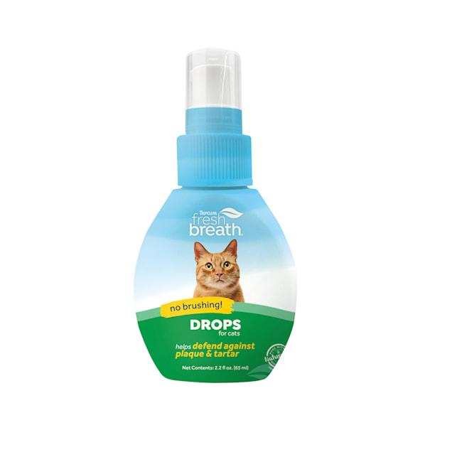 TropiClean Fresh Breath Oral Care Drops for Cats, 2.2 fl. oz. - Carousel image #1
