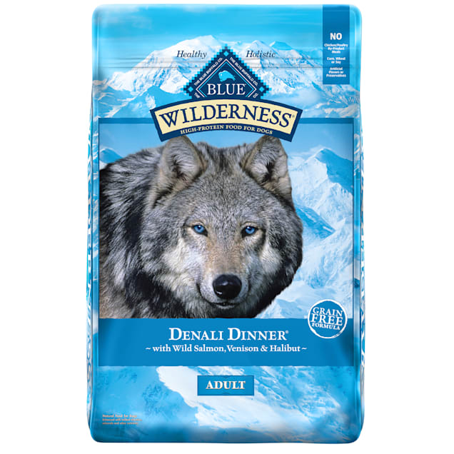 Blue Buffalo Blue Wilderness Denali Dinner with Wild Salmon Venison & Halibut Dry Dog Food, 22 lbs. - Carousel image #1
