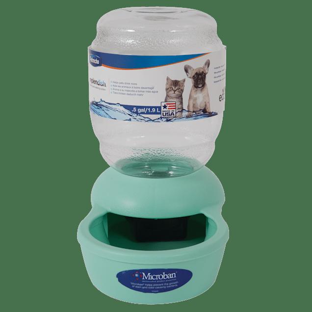 Petmate Replendish Gravity Waterer Mint Cat Bowl, 0.5 gallon - Carousel image #1