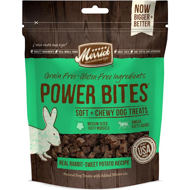 Merrick Power Bites Real Rabbit Dog Treats, 6 oz. - Carousel image #1