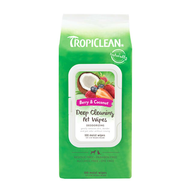TropiClean Deep Cleaning Dog Wipes, 100 count - Carousel image #1