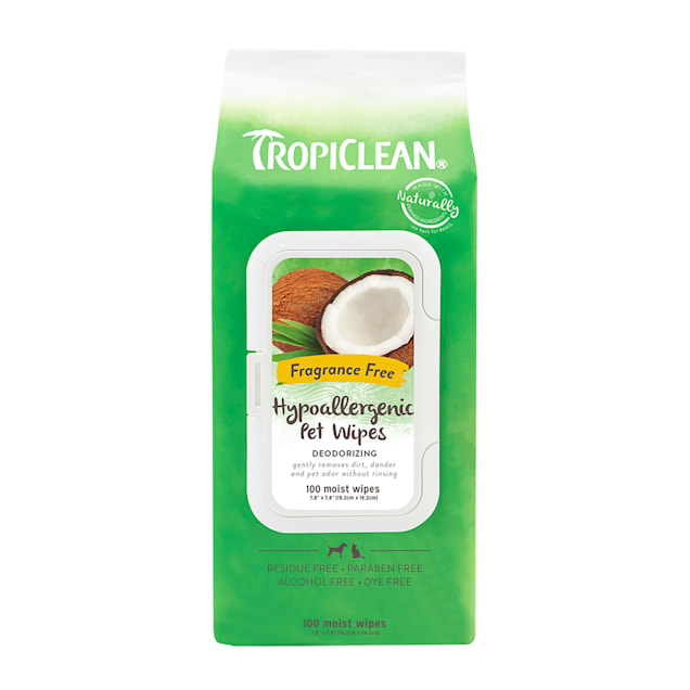 TropiClean Hypoallergenic Dog Wipes, 100 count - Carousel image #1