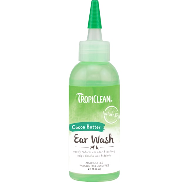 TropiClean Cocoa Butter Ear Wash for Pets, 4 fl. oz. - Carousel image #1