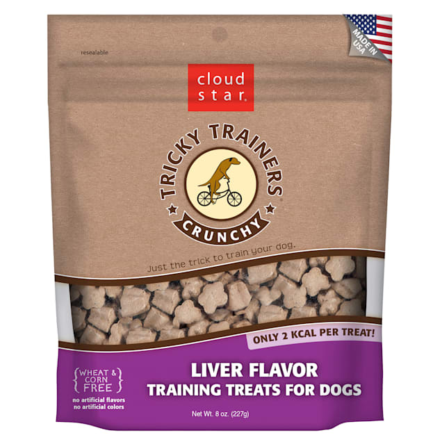Cloud Star Crunchy Tricky Trainers Liver Dog Treats, 8 oz. - Carousel image #1