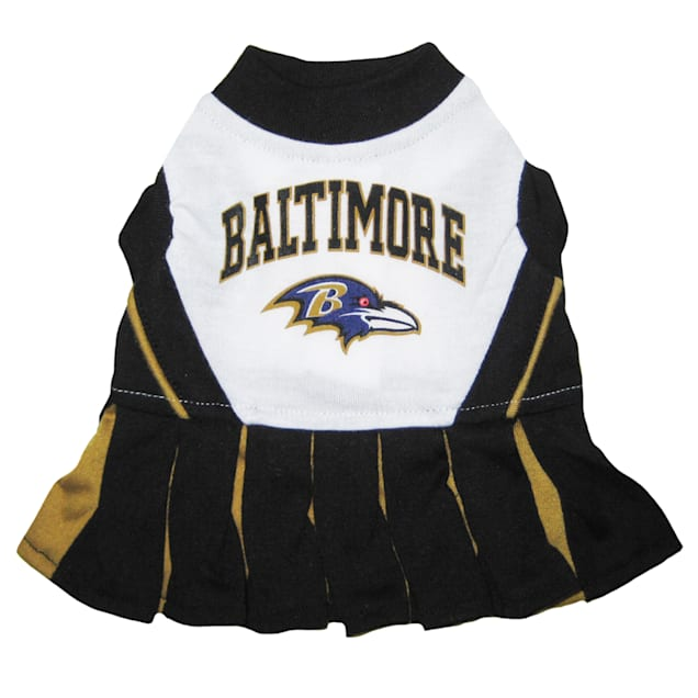 Pets First Baltimore Ravens NFL Cheerleader Outfit, X-Small - Carousel image #1