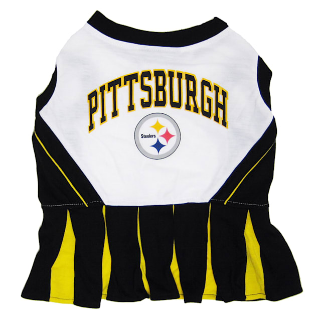 Pets First Pittsburgh Steelers NFL Cheerleader Outfit, Medium - Carousel image #1
