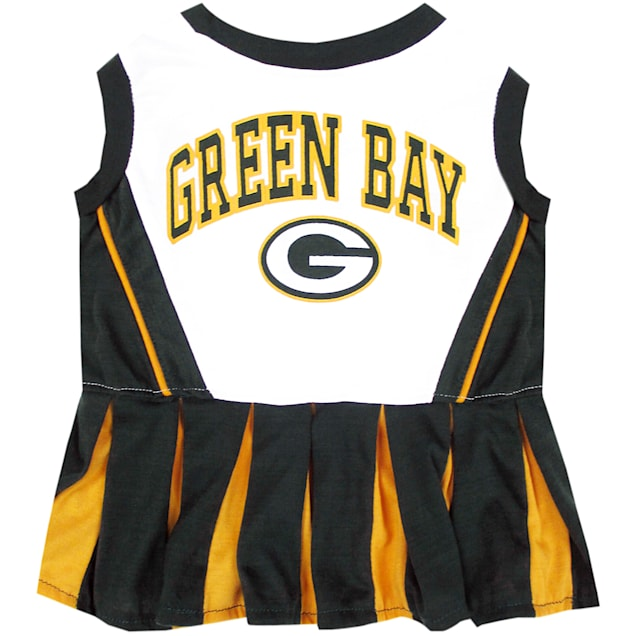 Pets First Green Bay Packers NFL Cheerleader Outfit, Medium - Carousel image #1