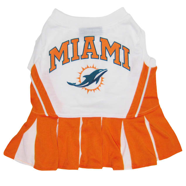 Pets First Miami Dolphins NFL Cheerleader Outfit, X-Small - Carousel image #1